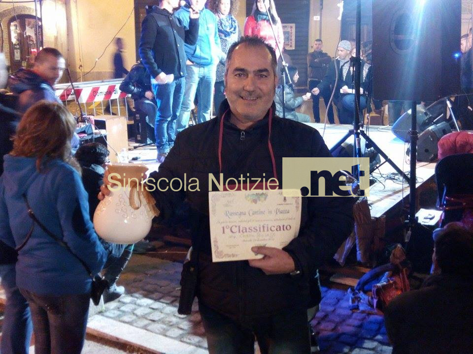 Il vincitore Giuseppe Carru